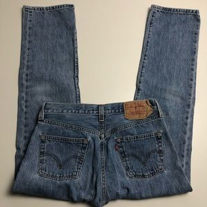 Vintage Levi's 501 Fly Button Straight Cut Jeans